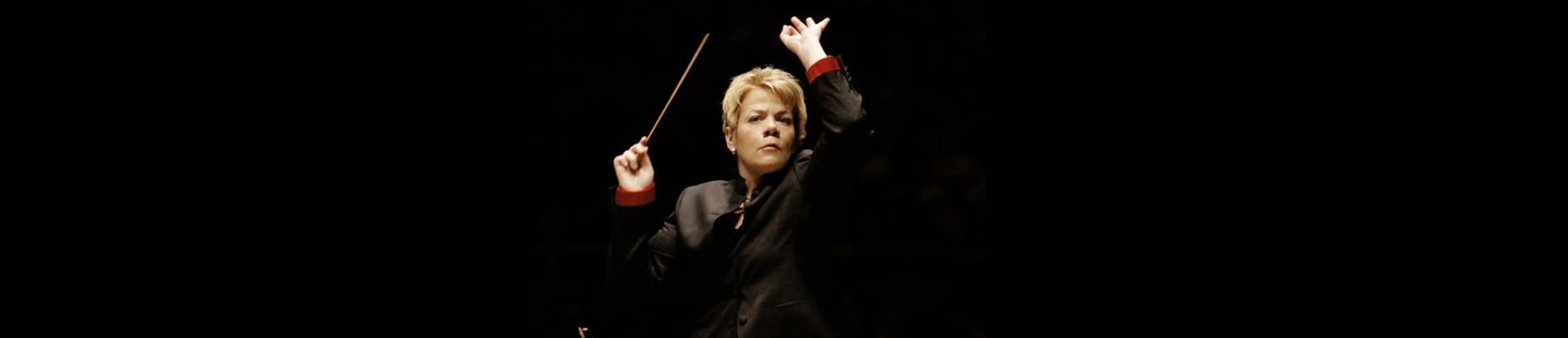 Marin Alsop conducts Adams, Frank, and Mahler