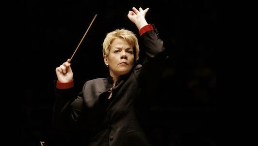 Marin Alsop conducts Adams, Frank, and Mahler