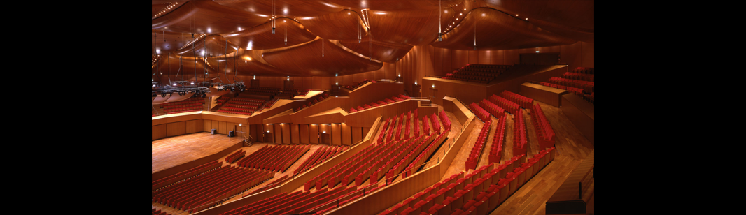 The Auditorium Parco Della Musica, an architectural project designed by Renzo Piano