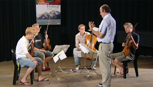 Gábor Takács-Nagy enseigne Bartók : Quatuor à cordes n°5
