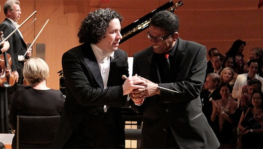 Walt Disney Concert Hall celebrates Gershwin — With Gustavo Dudamel and Herbie Hancock
