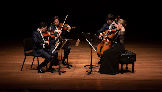 The Schumann Quartet, Gilles Vonsattel, Yura Lee, and Tommaso Lonquich play Haydn and Mozart