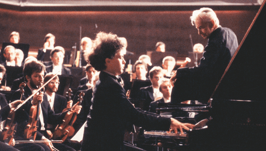 Herbert von Karajan and Evgeny Kissin perform Tchaikovsky's Piano Concerto No. 1