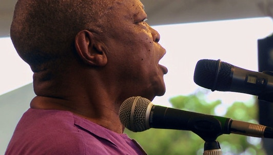 Hugh Masekela live at the Paris Jazz Festival