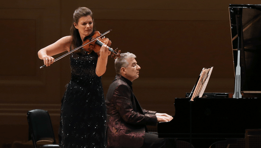 Janine Jansen and Jean-Yves Thibaudet play Grieg, Debussy, and Chausson