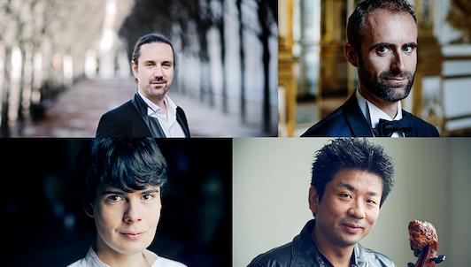 Julien Chauvin, Pierre-Éric Nimylowycz, Atsushi Sakaï, and Justin Taylor play Mozart and Haydn