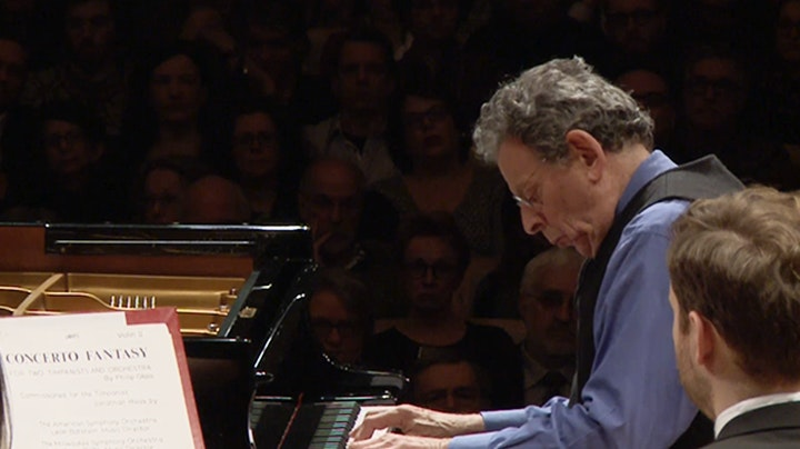 Kent Nagano conducts Glass, Tabassian, Mozhdehi and Dukas – With Philip Glass