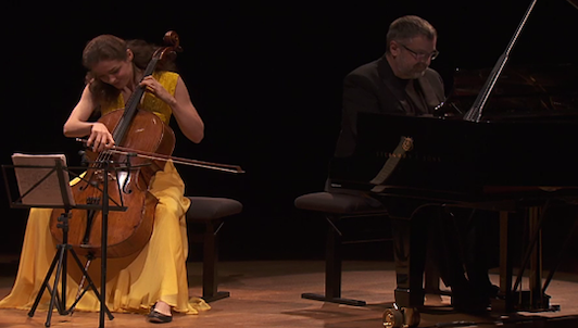 Anastasia Kobekina and Artur Pizarro play Stravinsky, Prokofiev, and Rachmaninov