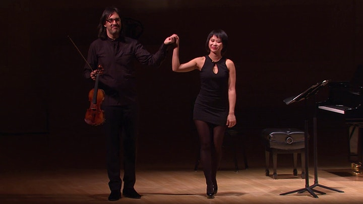 Leonidas Kavakos and Yuja Wang perform Brahms, Schumann, Ravel and Respighi