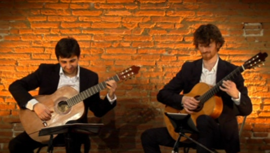 The Mélisande Duo plays Bach's Goldberg Variations