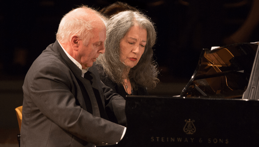 Martha Argerich and Daniel Barenboim play piano duets