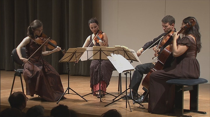 The Psophos Quartet performs Debussy and Grieg
