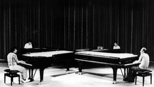 Rodion Shchedrin interpreta el Homenaje a Chopin para cuatro pianos