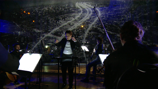 Rostislav Krimer and the East-West Chamber Orchestra perform Weinberg's Chamber Symphonies accompanied by holographic projections and Piazzolla - With Leticia Moreno