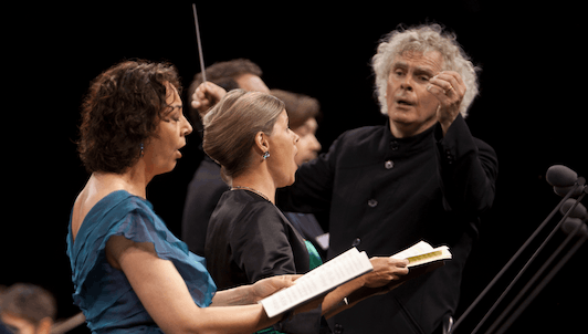 Sir Simon Rattle conducts Mendelssohn, Bach and Beethoven – With Christian Tetzlaff, Camilla Tilling, Nathalie Stutzmann, Joseph Kaiser, Dimitry Ivashchenko