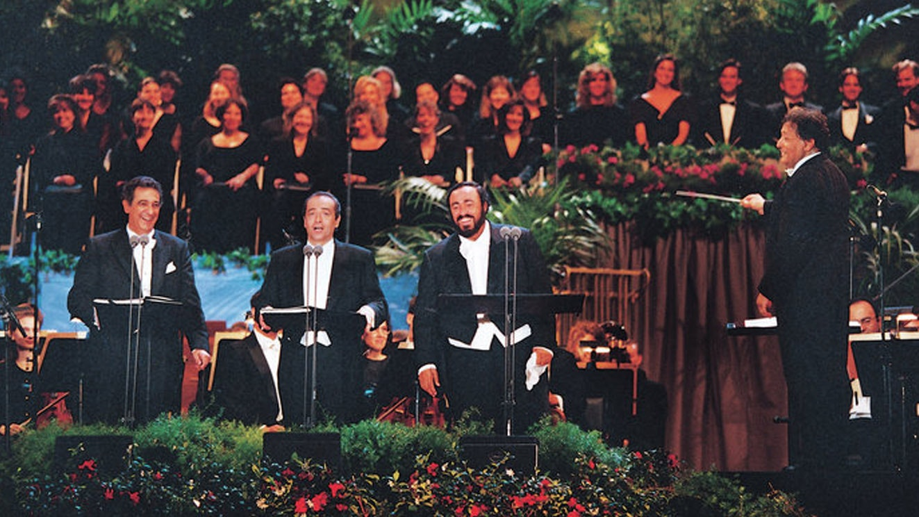 Legendary concert of the Three Tenors José Carreras, Plácido Domingo, Luciano Pavarotti – With Zubin Mehta