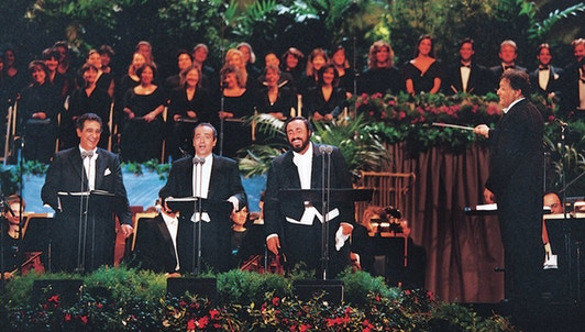 Legendary concert of the Three Tenors José Carreras, Plácido Domingo, Luciano Pavarotti – With Zubin Mehta