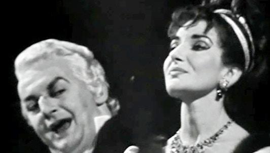 Tito Gobbi y Maria Callas cantan Tosca de Puccini