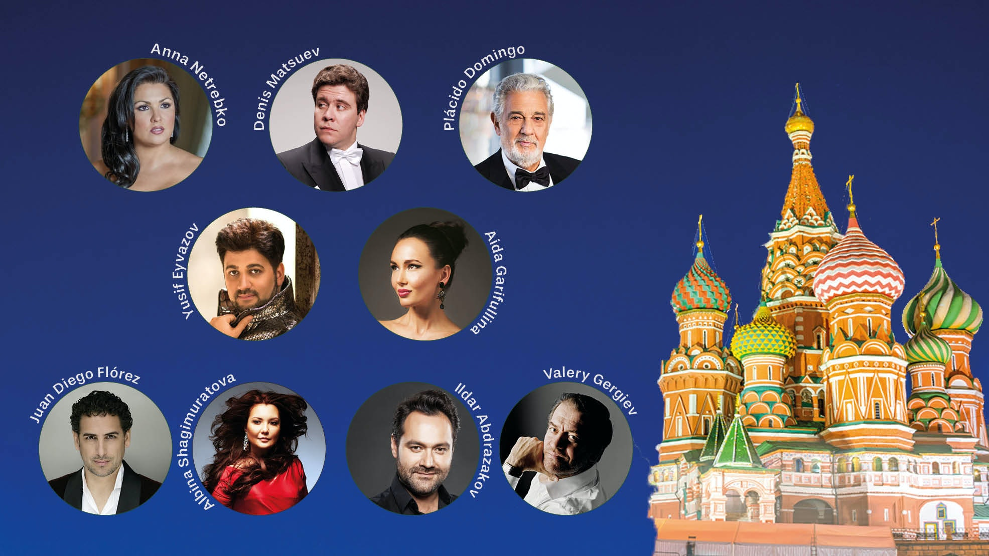 ⚽ Concert de gala de la Coupe du Monde 2018 – Avec  Anna Netrebko, Plácido Domingo, Denis Matsuev, Valery Gergiev...