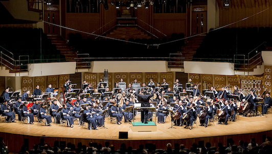 Yan Huichang conducts the Hong Kong Chinese Orchestra in a colorful program of traditional Chinese music
