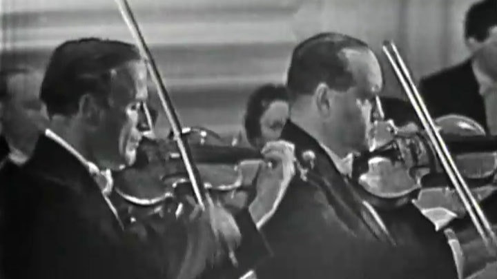 Yehudi Menuhin and David Oistrakh play Bach's Double Violin Concerto