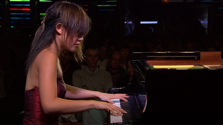 Yuja Wang plays Liszt, Rimsky-Korsakov, Scriabin, and Ravel
