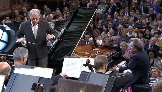 Zubin Mehta conducts Brahms, Debussy and Ravel – With Rudolf Buchbinder